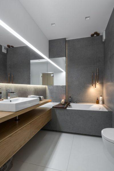 Wiślane tarasy Projekteria projekt łazienki